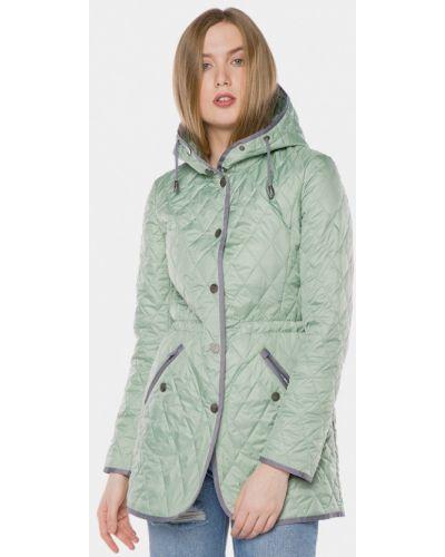 Зеленая утепленная куртка Mr520