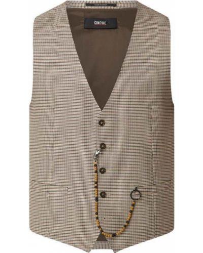 Biała kamizelka z wiskozy z dekoltem w serek Cinque