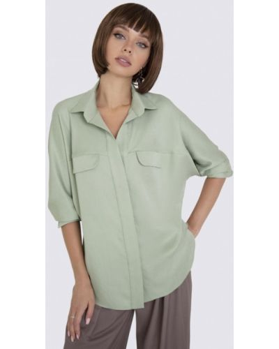 Зеленая блузка с длинными рукавами Anushka By Anna Pavlova