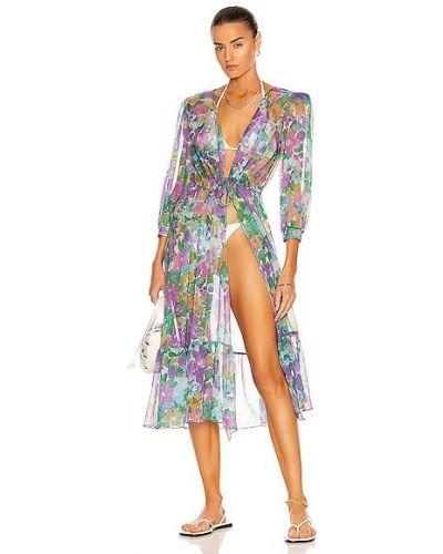 Платье с кулиской - фиолетовое Patbo