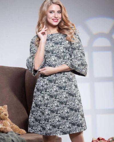 Платье с бисером с цветочным принтом Olga Peltek