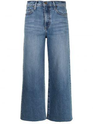 Синие с завышенной талией укороченные джинсы свободного кроя Nobody Denim
