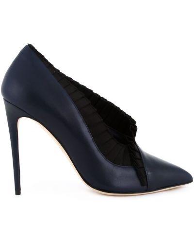 Кожаные синие кожаные туфли Olgana