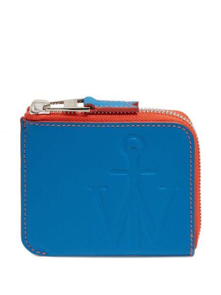 Niebieski portfel skórzany Jw Anderson