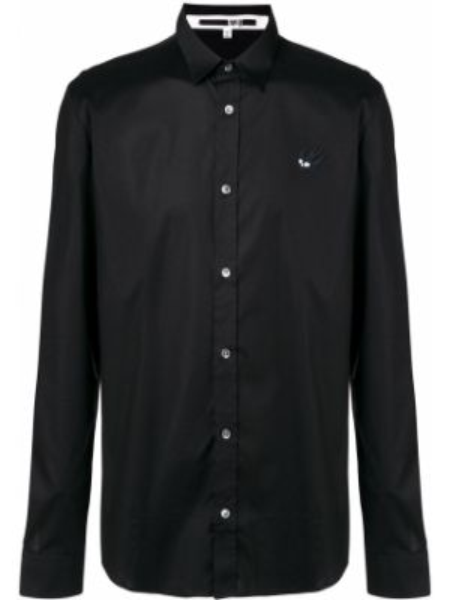 Czarna klasyczna koszula bawełniana z długimi rękawami Mcq Alexander Mcqueen