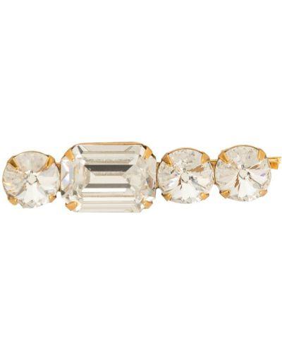 Золотистая серебряная заколка с камнями Jennifer Behr