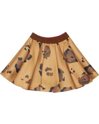 Коричневая юбка из вискозы с подкладкой Mi.mi.sol.