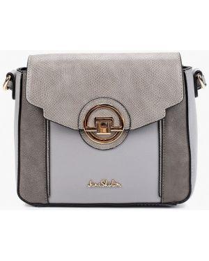 Кожаная сумка через плечо серая Jane Shilton