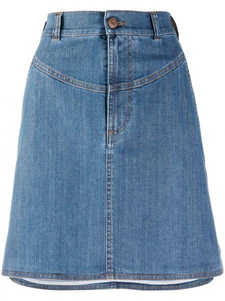 Синяя с завышенной талией джинсовая юбка на молнии See By Chloé