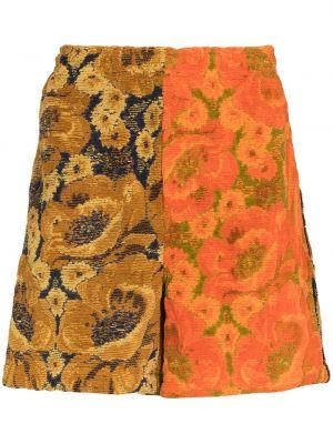 Pomarańczowe szorty bawełniane Bode