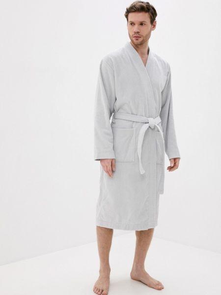 Серый домашний халат Estia