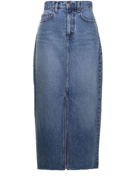 Синяя юбка классическая с завышенной талией Nobody Denim