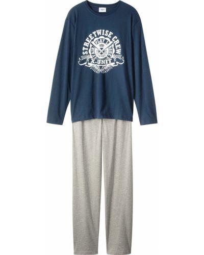 Пижама серая с надписью Bonprix