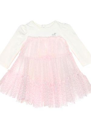 Платье из фатина - розовое Monnalisa