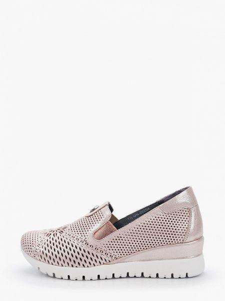 Туфли велюровые розовый Pierre Cardin