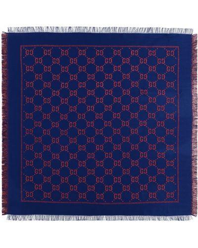 Bawełna niebieski szalik z wiskozy Gucci Kids