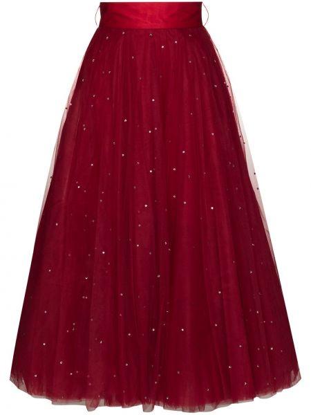 Прямая с завышенной талией юбка на молнии из фатина Anouki