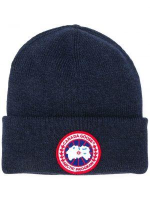 Niebieski kapelusz wełniany Canada Goose