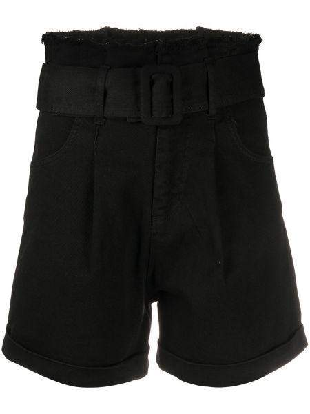 Однобортные черные короткие шорты с карманами Federica Tosi
