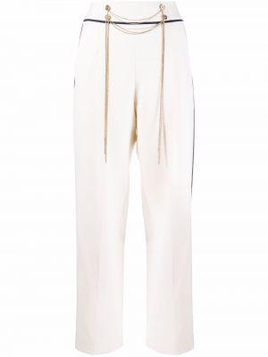 Белые шерстяные брюки Oscar De La Renta
