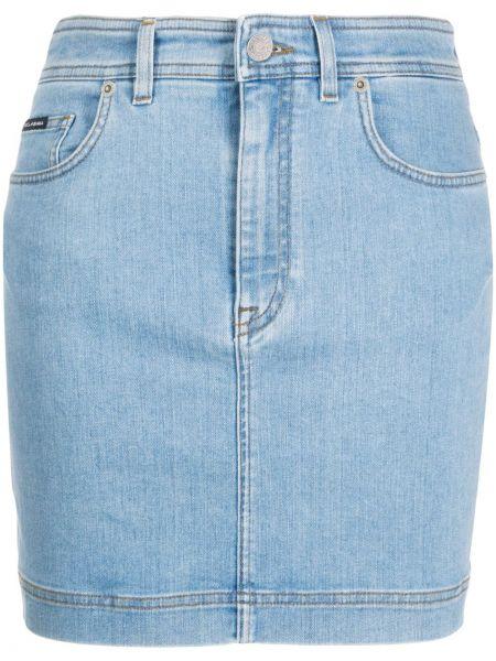 Юбка мини джинсовая с завышенной талией Dolce & Gabbana