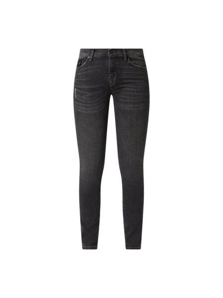Mom jeans bawełniane - czarne 7 For All Mankind
