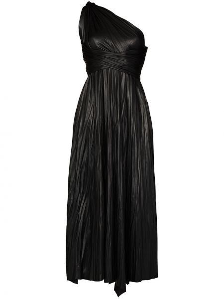 Платье макси длинное - черное Maria Lucia Hohan