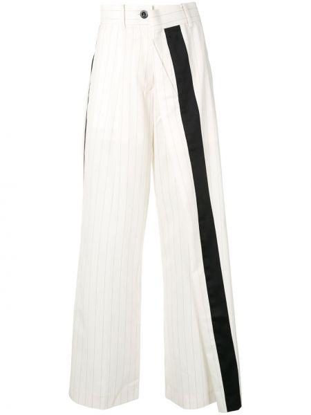 Spodnie z wysokim stanem czarne z kieszeniami Sacai
