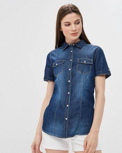 Джинсовая рубашка синяя Iwie