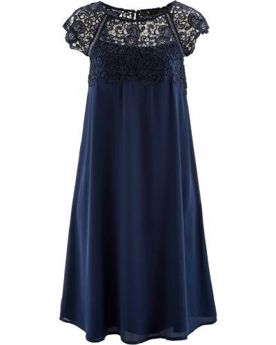 Шифоновое платье - голубое Bonprix