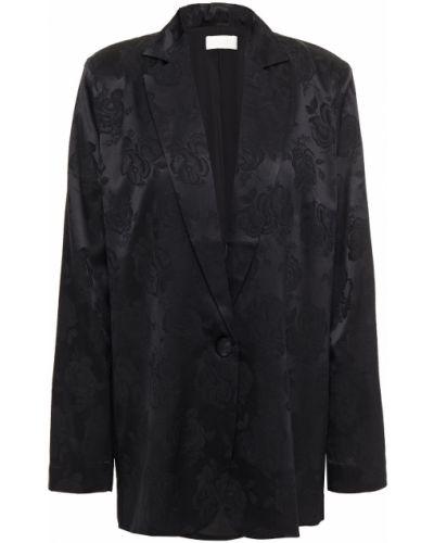Черный пиджак с подкладкой из вискозы Ronny Kobo