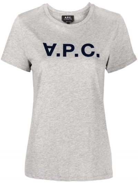 Серая футболка с круглым вырезом A.p.c.