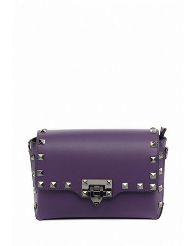 Фиолетовая кожаная сумка Vivat Accessories