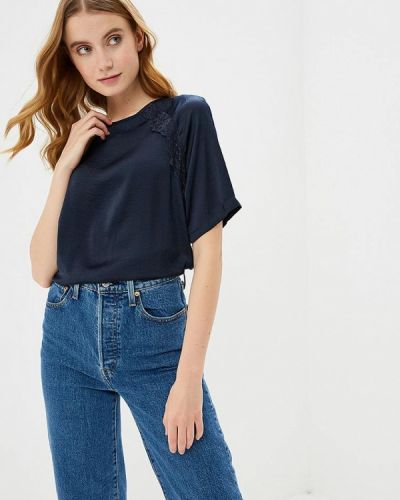 Блузка с коротким рукавом синяя весенний Jacqueline De Yong