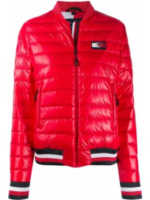 Красная спортивная куртка на молнии с манжетами круглая Rossignol