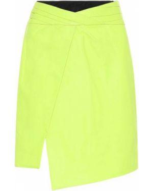 Кожаная юбка пачка зеленый Rta