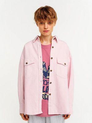 Розовая джинсовая рубашка Befree