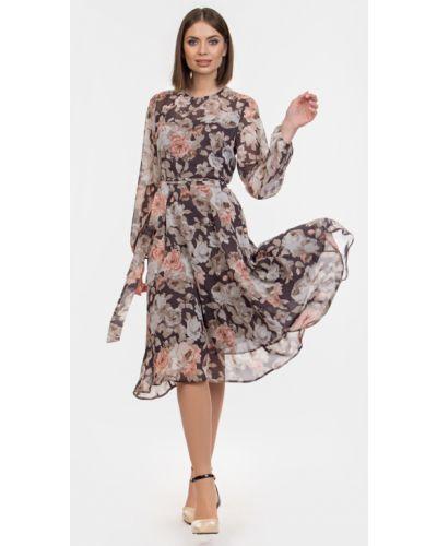 Повседневное шифоновое платье с поясом Filigrana