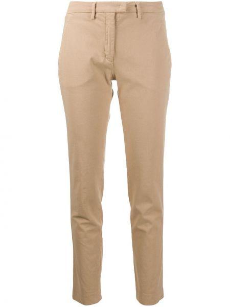 Хлопковые прямые брюки Incotex