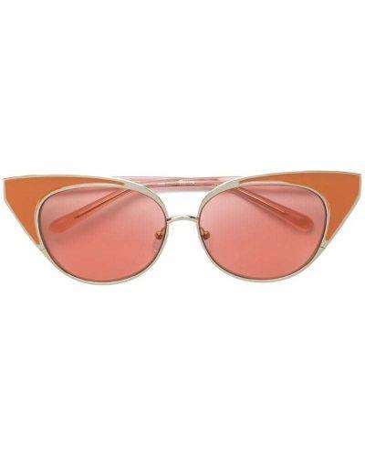 Солнцезащитные очки кошачий глаз металлические N21