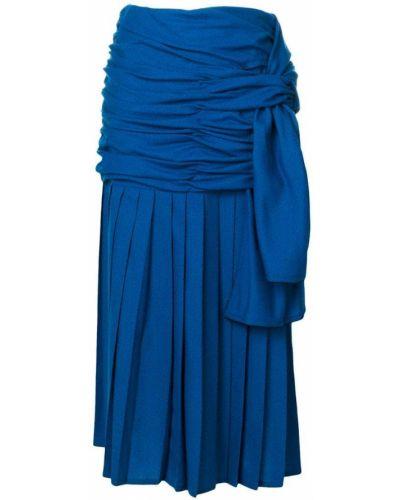 Плиссированная юбка миди с завышенной талией Versace Vintage