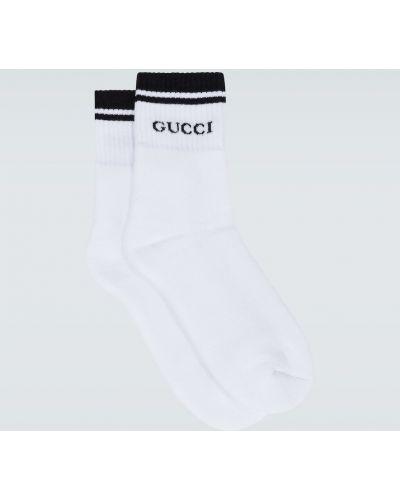 Czarne sport skarpety bawełniane z printem Gucci