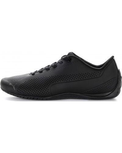 Черные кроссовки с перфорацией Puma