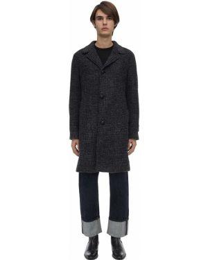 Czarny płaszcz skórzany Mp Massimo Piombo
