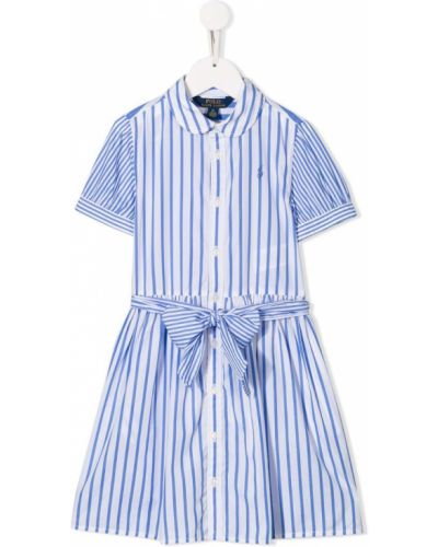Платье хлопковое белое Ralph Lauren Kids