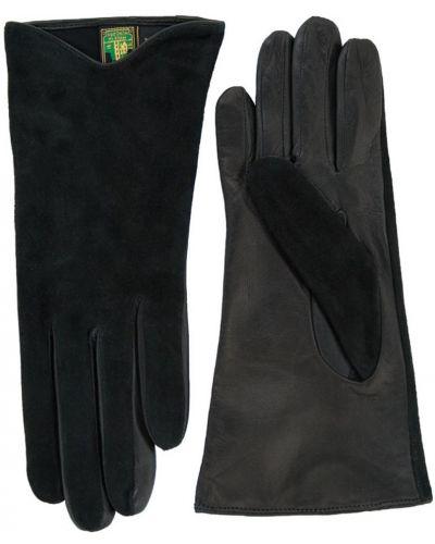 Велюровые черные перчатки Alpa Gloves