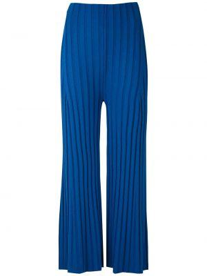 Расклешенные трикотажные синие брюки Osklen
