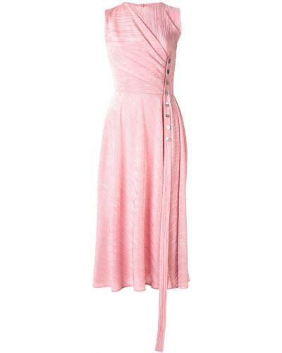 Плиссированное розовое платье Dalood