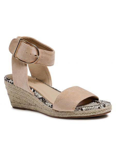 Beżowe złote sandały Deezee