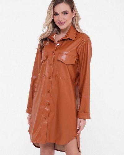 Коричневое платье-рубашка Magnet